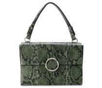 Strukturierte Schlangenleder-Handtasche