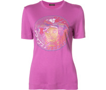 T-Shirt mit Paillettenstickerei - women
