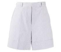 Gestreifte Shorts mit hohem Bund