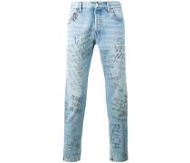 Jeans mit Punk-Print