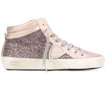 High-Top-Sneakers mit Glitzereffekt