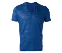 - Leinen-T-Shirt mit V-Ausschnitt - men