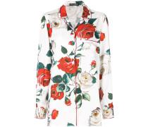 Pyjamahemd mit floralem Print