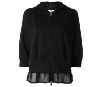 mesh hem hoodie - women