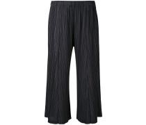 Plissierte Cropped-Hose - women - Polyester - 2