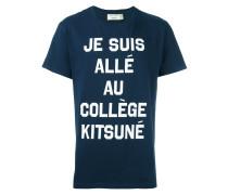 """T-Shirt mit """"Je suis allé au Collège""""-Print"""