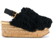 Camille shearling wedges