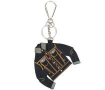 Schlüsselanhänger mit Jeansjacken-Motiv