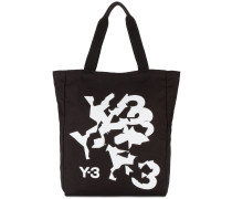 Distorted logo tote bag