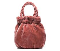 Small pink velvet Grace Bucket Bag
