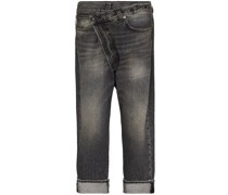 Jeans in Wickeloptik