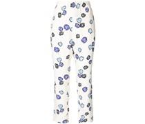 Taillenhose mit Blumen-Print