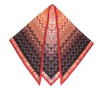 Dreieckiger Seidenschal mit Wellen-Print