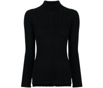 fitted ribbed knit sweater