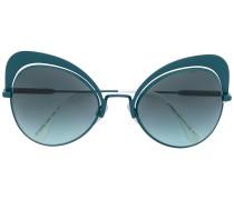 Sonnenbrille mit Oversized-Cat-Eye-Gestell