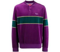 Velours-Pullover mit Druckknöpfen