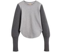 rib knit-sleeve sweatshirt