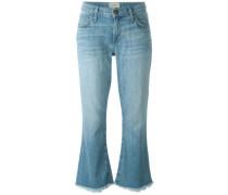Lockere Cropped-Jeans mit ausgestelltem Bein
