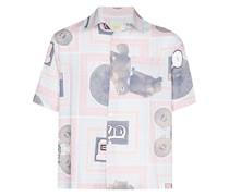 Hemd mit Schal-Print