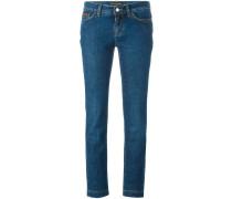 Jeans mit Kronenstickerei