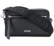 branded strap textured bag