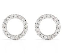18kt Circle Gelbgoldohrringe mit Diamanten