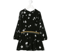 star and plant pattern dress