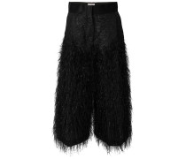 fluffy cropped trousers