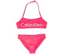 - Bikini mit Logo-Print - kids - Polyamid/Elastan