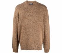 Melierter Pullover im Distressed-Look