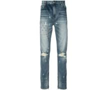 Schmale Jeans mit Stickereien