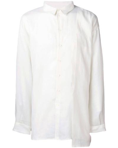 Asymmetrisches Leinenhemd