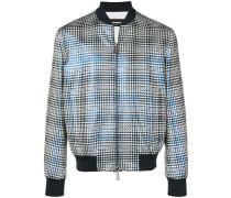 optical metallic bomber jacket