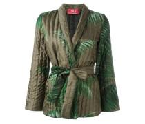 Kimono-Jacke mit Palmen-Print