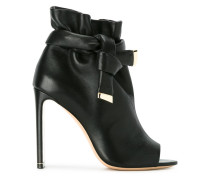 peep toe booties - women