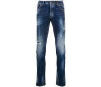 Ausgeblichene Distressed-Jeans