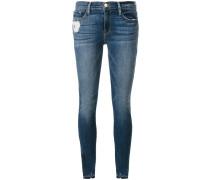 Skinny-Jeans mit gerippten Bündchen
