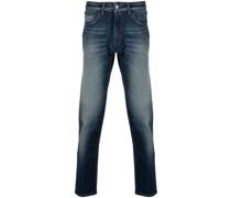 Ausgeblichene Slim-Fit-Jeans
