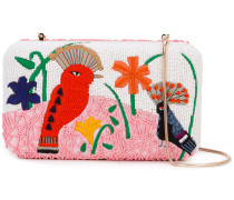 - bird embroidered clutch - women - Baumwolle/PVC