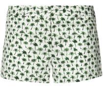 Kurze Shorts mit Palmen-Print