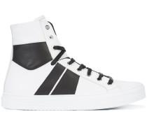 High-Top-Sneakers mit gestreiften Einsätzen