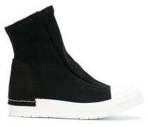 sock-like upper sneaker boots