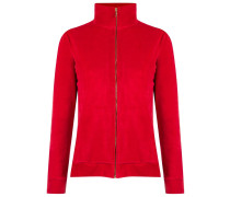 - high collar jacket - women - Baumwolle/Elastan
