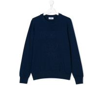 logo embossed sweatshirt