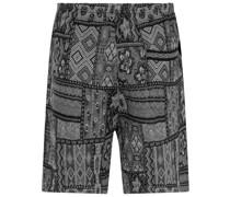 Gestrickte Shorts im Patchwork-Design