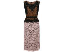 Kleid mit Kontrasteinsatz aus Spitze