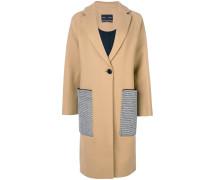 Oversized-Mantel mit Kontrasttaschen