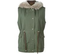 Mantel mit ärmellosem Design