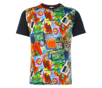 T-Shirt mit Sticker-Print