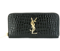 'Monogram' zip wallet